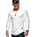 abordables Botas de Hombre-Hombre Básico / Chic de Calle Estampado Camiseta Un Color / A Rayas
