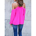 cheap Earrings-Women's T-shirt - Solid Colored Boat Neck