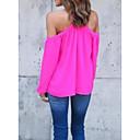 billige Mode Øreringe-Bateau-hals Dame - Ensfarvet T-shirt