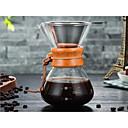 abordables Utensilios de cocina-Vidrio Resistente al calor / Creativo Taper Shape 1pc Filtros / Filtro de café / Cafetera