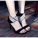 povoljno Ženske sandale-Žene Cipele Koža Ljeto Udobne cipele / Obične salonke Sandale Stiletto potpetica Crn