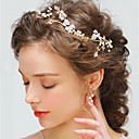 ieftine Accesorii Păr de Petrecerere-Cristal / Aliaj Lantul Capului cu Piatră Semiprețioasă / Șifonat / Cristale / Strasuri 1 Bucată Nuntă / Ocazie specială Diadema