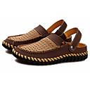 levne Pánské sandály-Pánské Obuv Kůže nubuck Léto Pohodlné Sandály Tmavěhnědá / Khaki