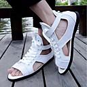 cheap Wedding Shoes-Men's Tulle Summer Comfort Sandals White / Black