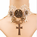 cheap Historical & Vintage Costumes-Rozen Kristall Cool Skulls Gothic Lolita Cross Gothic Choker Necklace For Party Prom Women's Girls' 1 Necklace Costume Jewelry / Steampunk / Clockwork