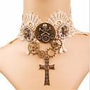 abordables Pendientes-Gargantillas Cruzado Gótico Steampunk Blanco Cosecha Encaje Collar Aleación de Metal Tela de Encaje Disfraces