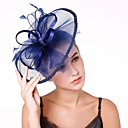 cheap Party Headpieces-Women's Fashion / Elegant Fascinator - Solid Colored Flower / Mesh / Wedding / All Seasons