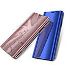 זול מגנים לטלפון & מגני מסך-מגן עבור Samsung Galaxy A6+ (2018) / A6 (2018) עם מעמד / ציפוי / מראה כיסוי מלא אחיד קשיח עור PU ל A6 (2018) / A6+ (2018) / A3 (2017)