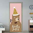 ieftine Acțibilde de Perete-Autocolante de Perete Decorative Etichete pentru autovehicule - Sărbători perete Abțibilduri Animal Stickers de perete Animale Crăciun