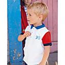 povoljno Džemperi i kardigani za dječake-Djeca / Dijete koje je tek prohodalo Dječaci Aktivan / Osnovni Dnevno / Sport Blue & White / Crno-crvena Geometrijski oblici Vezeno Kratkih rukava Regularna Pamuk Majica s kratkim rukavima Obala 100