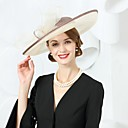 cheap Party Headpieces-Flax Hats with Bowknot 1pc Wedding / Party / Evening Headpiece
