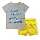 ieftine Seturi Îmbrăcăminte Băieți-Copil Băieți Imprimeu / Bloc Culoare Manșon scurt Set Îmbrăcăminte