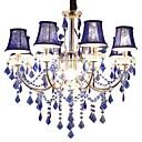 billige Planmonterede Lys-QIHengZhaoMing 9-Light Candle-stil Lysestager Baggrundsbelysning - Krystal, 110-120V / 220-240V, Varm Hvid, Pære Inkluderet / 15-20㎡