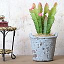 baratos Flor artificiali-Flores artificiais 1 Ramo Retro Plantas suculentas Flor de Mesa