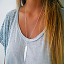 cheap Necklaces-Pendant Necklace - Leaf, Feather Simple, European, Fashion Gold, Silver 70 cm Necklace For Daily