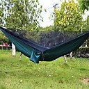 cheap Seat Posts & Saddles-Camping Hammock with Mosquito Net Outdoor Lightweight, Breathability Nylon for Hiking / Camping / Travel - 2 person Black / Dark Green /