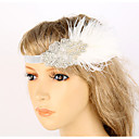 cheap Historical & Vintage Costumes-The Great Gatsby Vintage 1920s Roaring Twenties Costume Women's Flapper Headband Head Jewelry White Vintage Cosplay Party Prom Sleeveless / Feather
