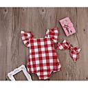 ieftine Set Îmbrăcăminte Bebeluși-Bebelus Fete Activ Houndstooth Fără manșon Bumbac O - piesă