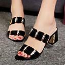 ieftine Sandale de Damă-Pentru femei PU Vară Confortabili Sandale Toc Îndesat Alb / Negru