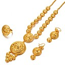 cheap Body Jewelry-Women's Thick Chain / Long Jewelry Set - Bohemian, Fashion, Boho Include Chain Bracelet / Hoop Earrings / Chain Necklace Gold For Party / Gift / Ring
