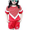 tanie Zestawy ubrań dla dziewczynek-Dzieci Dla dziewczynek Aktywny Jendolity kolor Krótki rękaw Komplet odzieży