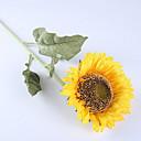 preiswerte Kunstblume-Künstliche Blumen 1 Ast Rustikal Sonnenblumen Boden-Blumen