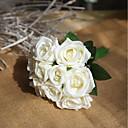 billige Bryllupsblomster-Kunstige blomster 9 Gren Fest / Bryllup Roser / Evige blomster Bordblomst