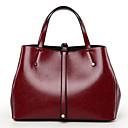 cheap Totes-Women's Bags PU Tote Zipper Black / Brown / Wine