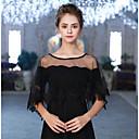 זול עליוניות לחתונה-ללא שרוולים טול חתונה / יום הולדת כיסויי גוף לנשים עם דוגמא גלימות