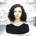Χαμηλού Κόστους Περούκες από Ανθρώπινη Τρίχα-Remy Τρίχα Δαντέλα Μπροστά Περούκα Κούρεμα καρέ Πλευρικό μέρος στυλ Βραζιλιάνικη Σγουρά Περούκα 130% Πυκνότητα μαλλιών Γυναικεία Κοντό Περούκες από Ανθρώπινη Τρίχα beikashang