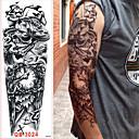 billige Midlertidige tatoveringer-3 pcs Tatoveringsklistermærker Midlertidige Tatoveringer Tegneserie Serie Kropskunst arm