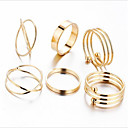 billige Motering-Dame Band Ring Ring Set - Legering Elefant Vintage 7 / 8 Gull Til Fest Ferie / 6pcs