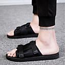 baratos Sandálias e Chinelos Masculinos-Homens Tecido Verão Conforto Chinelos e flip-flops Preto