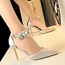 olcso Női magassarkú cipők-Női Cipő Szatén Nyár Magasított talpú Magassarkúak Tűsarok Zöld / Kék / Rózsaszín
