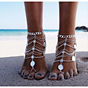 cheap Anklet-Coin Barefoot Sandals - Classic, Vintage Silver For Bikini Women's