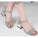 povoljno Ženske sandale-Žene Cipele Mekana koža Ljeto Udobne cipele Sandale Kockasta potpetica Obala