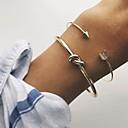 preiswerte Halsbänder-Damen Armreife / Manschetten-Armbänder - Metallisch, Doppellagig, Freizeit Armbänder Gold Für Alltag / Strasse / Ausgehen