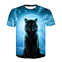 cheap Decoration Strips-Men's Basic / Street chic T-shirt - Color Block / Animal Wolf, Print