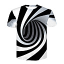 cheap Kitchen Tools-Men's Basic / Street chic T-shirt - Color Block Black & White, Print