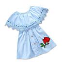 ieftine Set Îmbrăcăminte Bebeluși-Bebelus Fete De Bază Geometric Manșon scurt Rochie / Copil