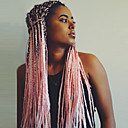 cheap Costume Wigs-Synthetic Wig Women's Curly Pink Braid Synthetic Hair Ombre Hair / Middle Part / Braided Wig Pink Wig Long Capless Black / Pink