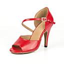 povoljno Cipele za latino plesove-Žene Plesne cipele Eko koža Cipele za latino plesove Štikle Tanka visoka peta Moguće personalizirati Crvena / Seksi blagdanski kostimi / Koža / Vježbanje