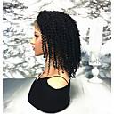 abordables Pelucas de Cabello Natural-Cabello Remy Encaje Frontal Peluca Cabello Brasileño Rizado Peluca 130% Densidad del cabello Mujer Longitud Media Pelucas de Cabello Natural