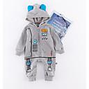 ieftine Set Îmbrăcăminte Băieți Bebeluși-Bebelus Băieți Activ Imprimeu Manșon Lung Poliester O - piesă Gri 90