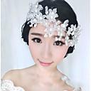 ieftine Depozitare de Bijuterii-Plastic Accesoriu de Păr / Hair Stick cu Imitație de Perle / Floral 1 Bucată Nuntă / Party / Seara Diadema