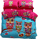 cheap Cartoon Duvet Covers-Duvet Cover Sets Cartoon 100% Cotton Reactive Print 3 Piece