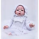 ieftine Păpuși-OtardDolls Păpuși Renăscute Bebe Fetiță 22 inch Silicon - Nou nascut natural Ecologic Cadou Confecționat Manual Siguranță Copii Lui Kid Fete Jucarii Cadou / Mâini aplicate manual / Non Toxic
