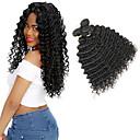 Недорогие Пряди натуральных волос-3 Связки Малазийские волосы Волнистый 10A 100% Remy Hair Weave Bundles Накладки из натуральных волос 8-30 дюймовый Природа Черный Ткет человеческих волос Сияние Новый дизайн 100% девственница