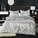 cheap Geometric Duvet Covers-Duvet Cover Sets Luxury 100% Cotton / Silk / Cotton Blend / Cotton Jacquard Printed & Jacquard 4 Piece
