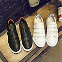 זול נעלי אוקספורד לנשים-בגדי ריקוד נשים נעליים עור אביב נוחות נעלי ספורט שטוח לבן / שחור
